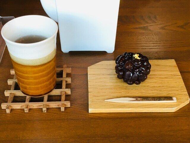 和菓子と加賀棒茶・抹茶がおいしかった