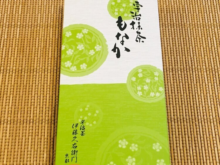 【伊藤久右衛門】宇治抹茶もなかを味わう。抹茶餅と餡を一緒に楽しめる!
