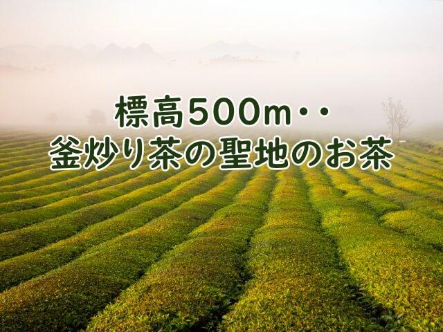 釜炒り茶の聖地「宮崎県五ヶ瀬町」 で作られたお茶