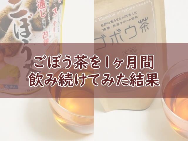 【体験談】ごぼう茶を1ヶ月間飲み続けてレビュー!